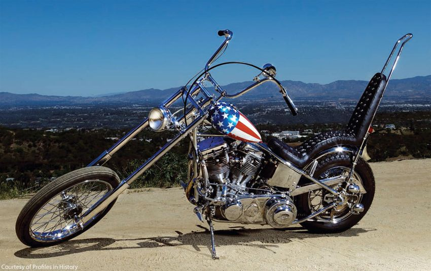 Most Expensive Motorcycle in the World - EALUXE.COM | Captain America Harley Davidson Panhead