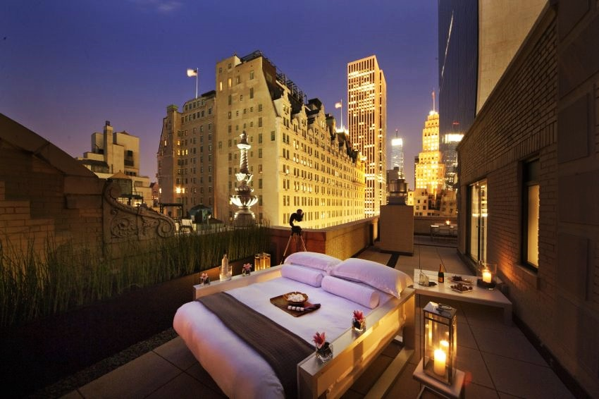 Most Expensive Outdoor Bedroom in the World - EALUXE | AKA Central Park