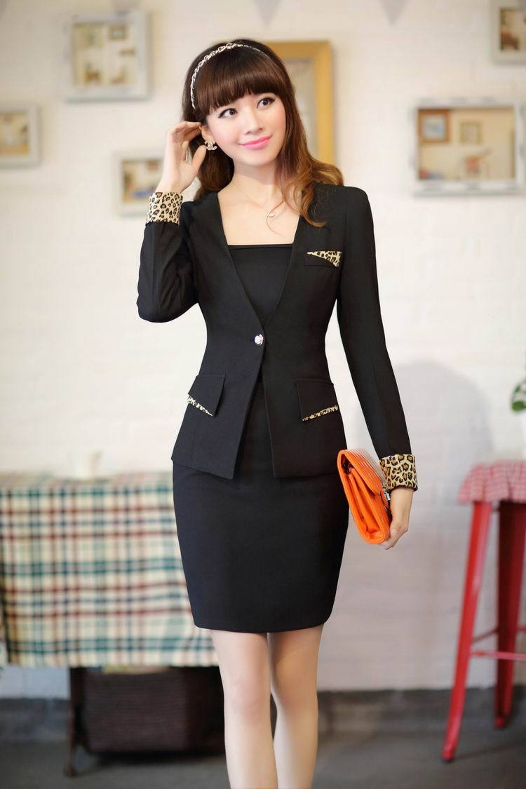 Original Quality 2015 Women Skirt Suits Summer Short Sleeve Formal Office Suits