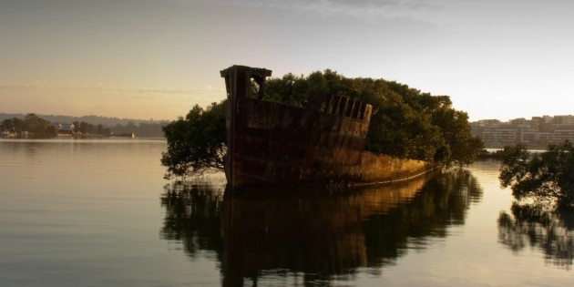 Amazing Abandoned Places Around the World: The remains of the SS Ayrfield in Homebush Bay, Australia