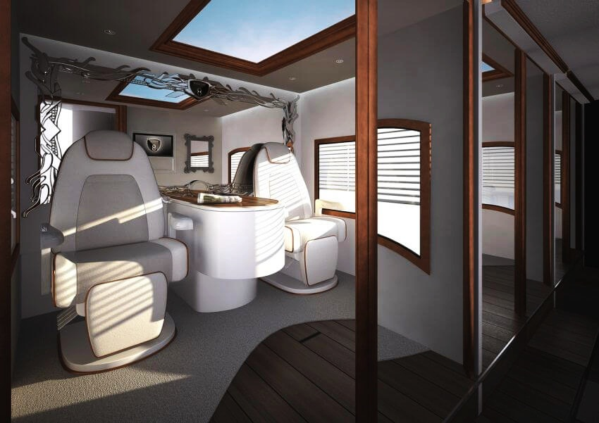 Most Expensive Motor Home in the World: eleMMent Palazzo | Just relax in these exquisite chairs.