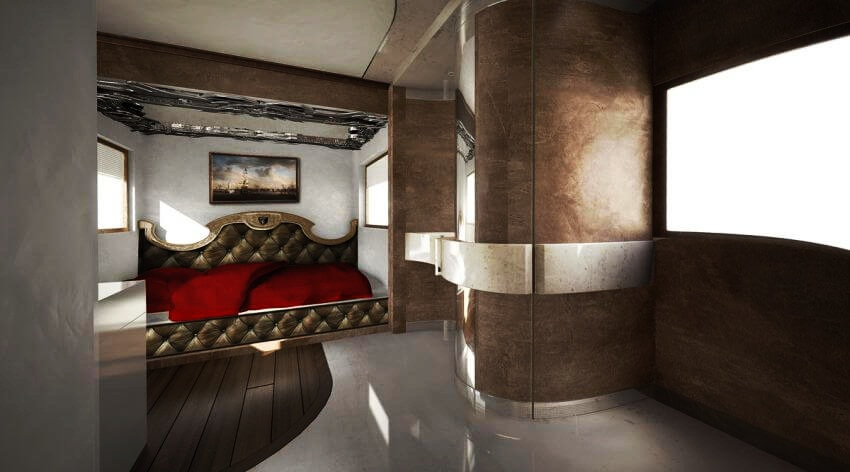 Most Expensive Motor Home in the World: eleMMent Palazzo | The bedroom looks gorgeous!