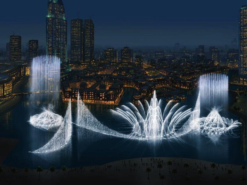 Most Expensive Fountain in the World: The Dubai Fountain | The fountain looks stunning at night.
