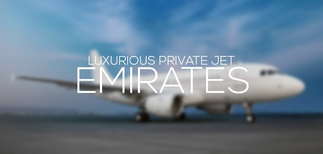 cover emirates luxurious private jet