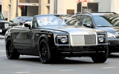 david_beckham_rolls__royce__phantom_drophead_coupe_ Celebrities With The Most Expensive Cars
