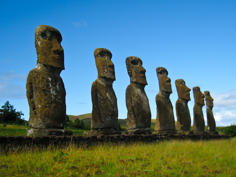 The moais at Ahu Akivi. These are special as they actually look Places You Must See Before They Disappear