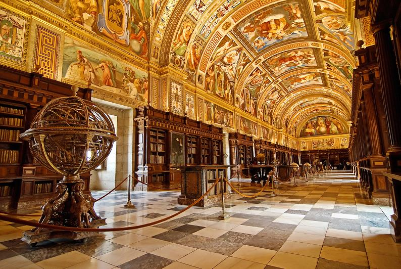 el-escorial-library-madrid-spain Incredible Libraries Around The World