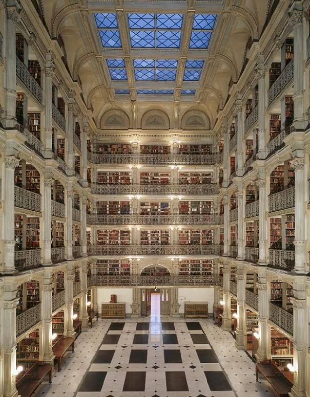 george-peabody-library-baltimore-maryland Incredible Libraries Around The World