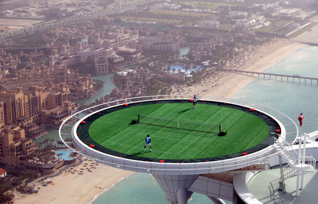 The Burj Al Arab - Dubai Tennis Court: Agassi vs. Federer