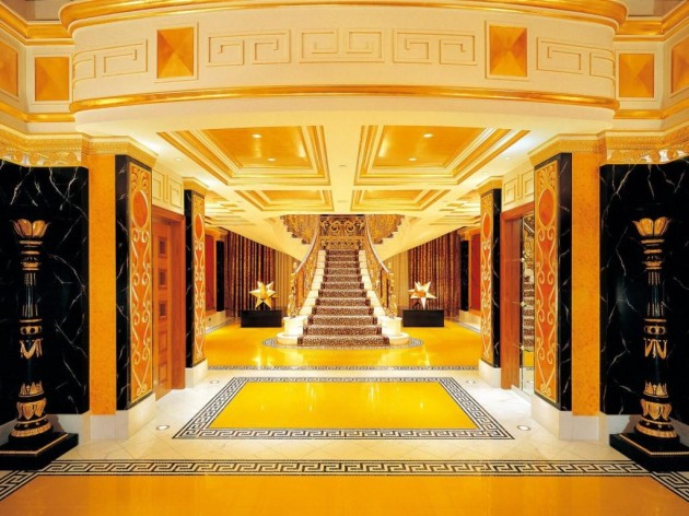 The Burj Al Arab - Main Stairs - Interior