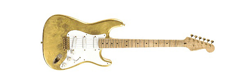 top 10 most expensive guitars in the world and how much they cost 9 Gold Leaf Strat, Eric Clapton