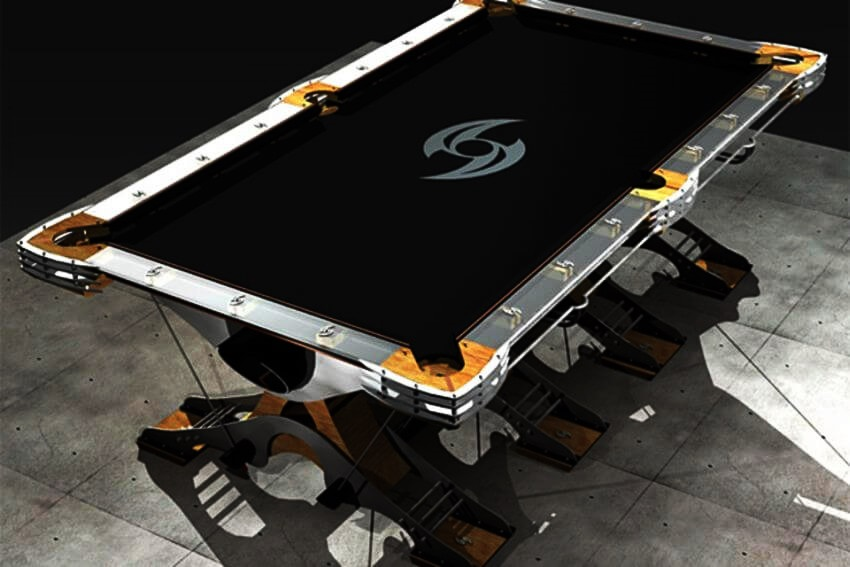 Top 10 Most Expensive Pool Tables in the World - EALUXE | The Predator can be customized with internal sound system, as well as with etched graphics in the glass rails and accent lighting.