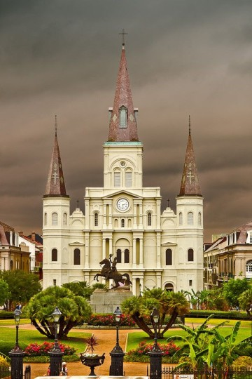 Beautiful Churches From The Rest of The World: Saint Louis Cathedral - USA