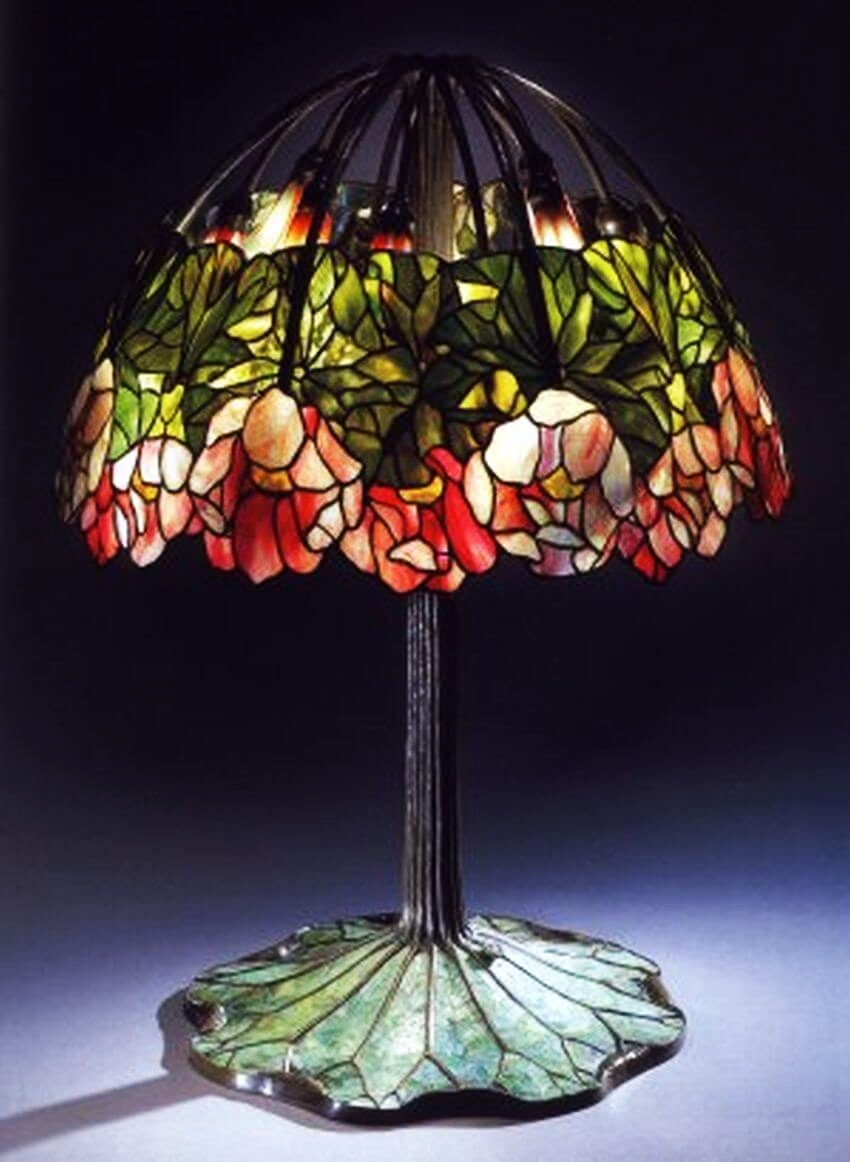 Most Expensive Lamp | The mosaic pattern of leaded stained glass looks absolutely gorgeous!