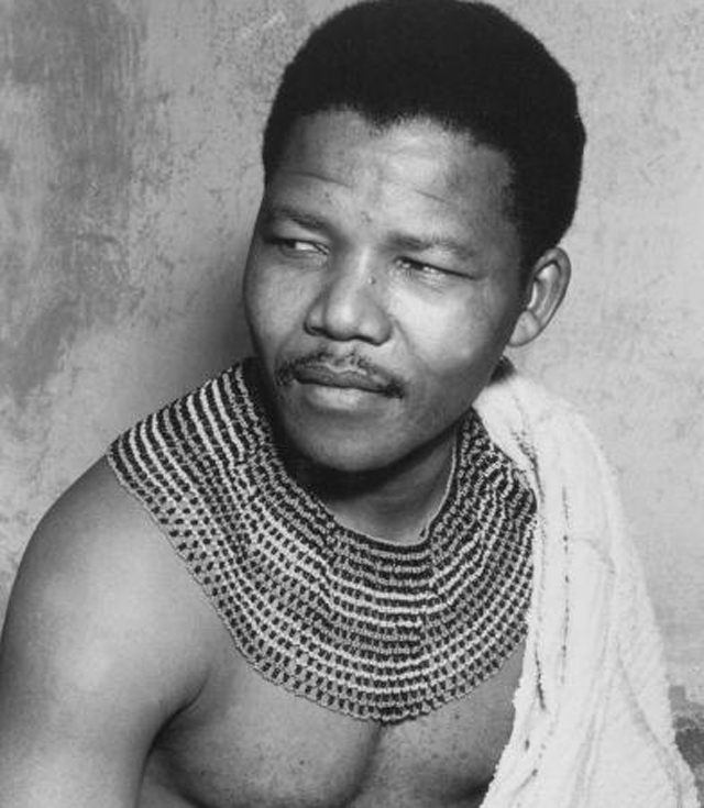 Nelson Mandela, activist against Apartheid, here in his youth c. 1950