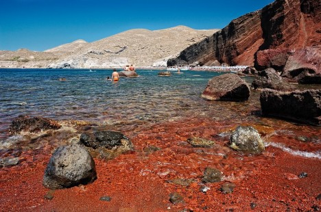 Red Beach, Santorini, Greece Unusual Beaches Around The World