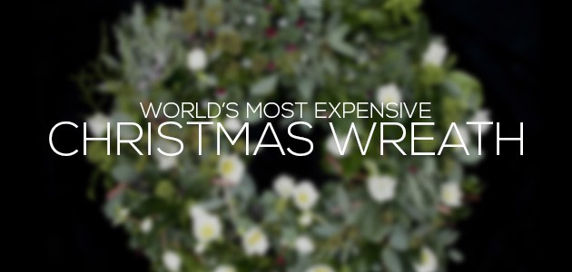 cover most expensive christmas wreath
