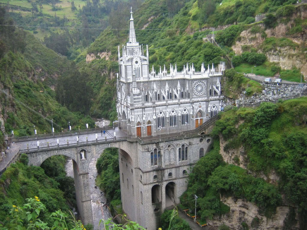 Beautiful Churches From The Rest of The World: Las Lajas Cathedral - Colombia