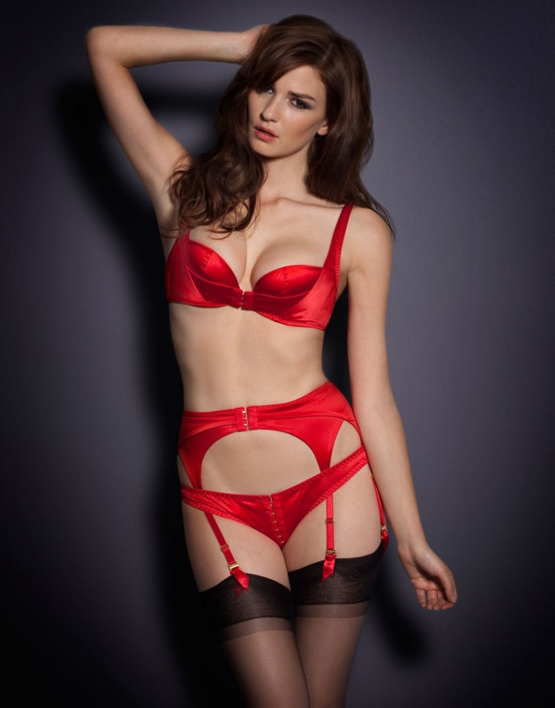 Red lingerie set