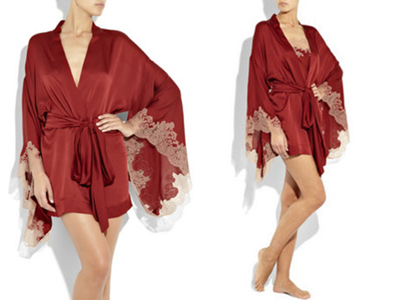 red silk kimono new years eve red lingerie idea inspiration ealuxe Red Lingerie for New Year's Eve