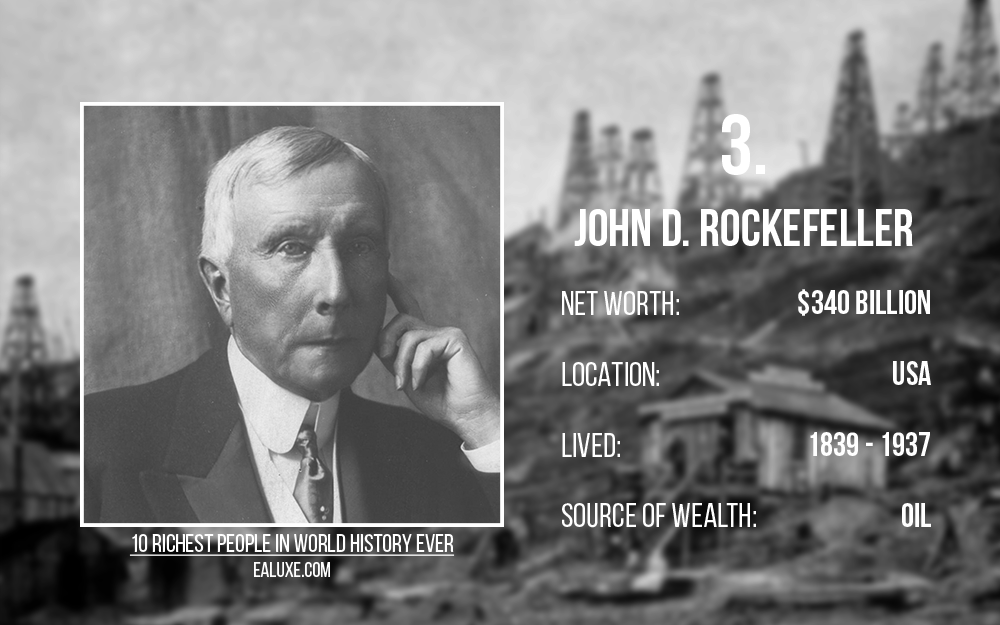 10 richest people in world history to ever live with most money ealuxe John D. Rockefeller