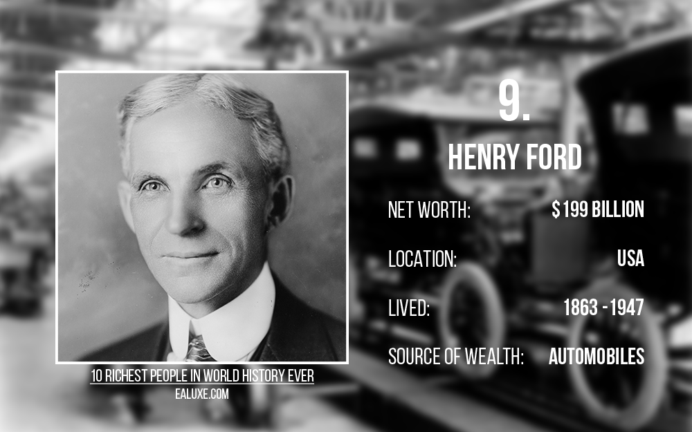 10 richest people in world history to ever live with most money ealuxe henry ford automobiles