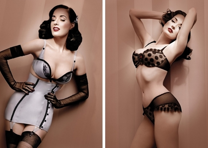 Dita Von Teese pin-up and burlesque style icon