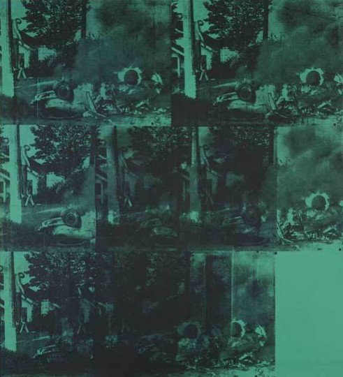 Green Car Crash - Andy Warhol