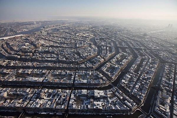Popular Cities View From the Sky: Amsterdam