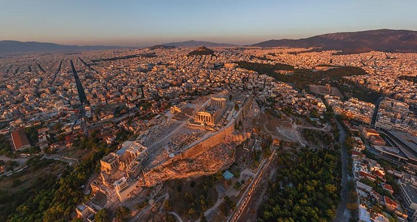 Popular Cities View From the Sky: Athens