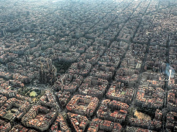Popular Cities View From the Sky: Barcelona