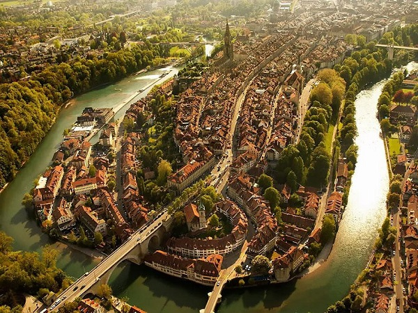Popular Cities View From the Sky: Berna