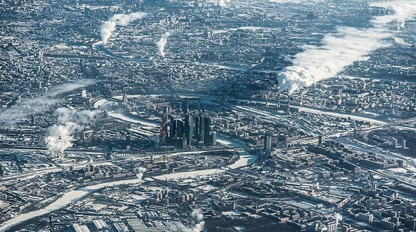 Popular Cities View From the Sky: Moscov