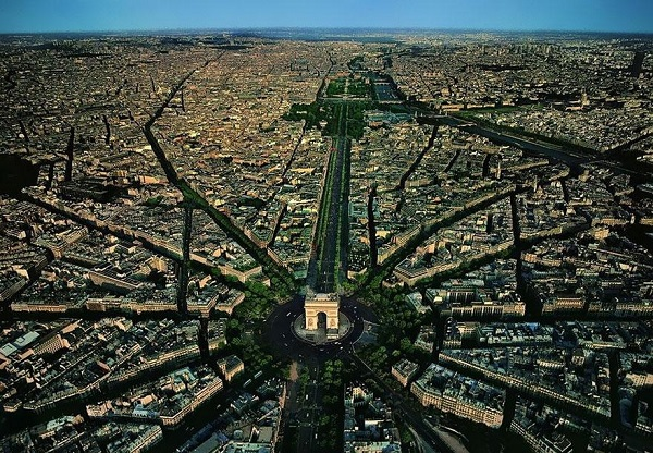 Popular Cities View From the Sky: Paris