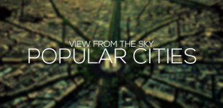 Popular Cities view from the sky