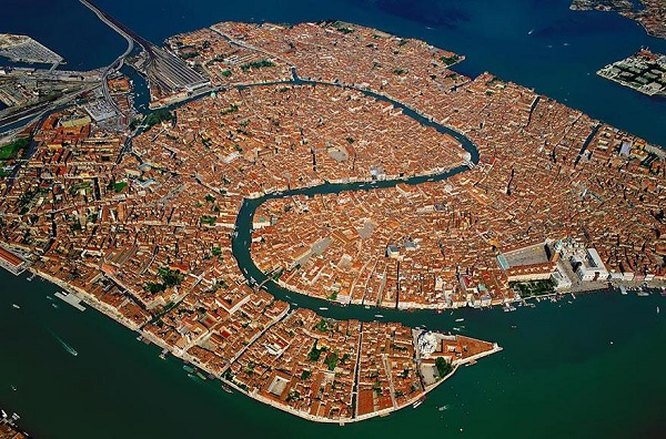 Popular Cities View From the Sky: Venice