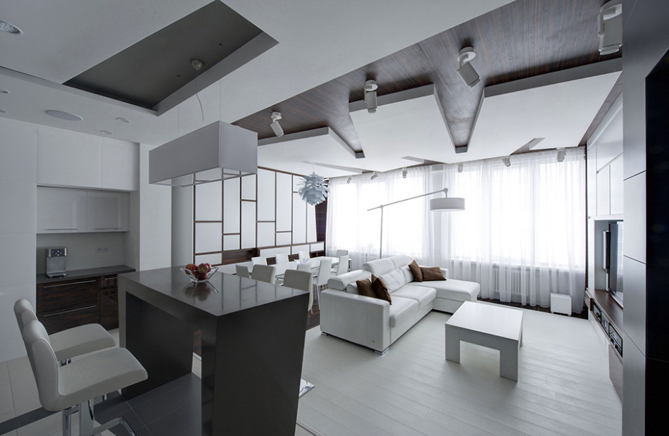 Minimalistic All-White Apartment In Moscow
