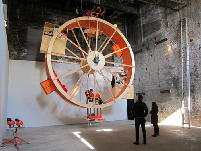Giant Human Hamster Wheel House