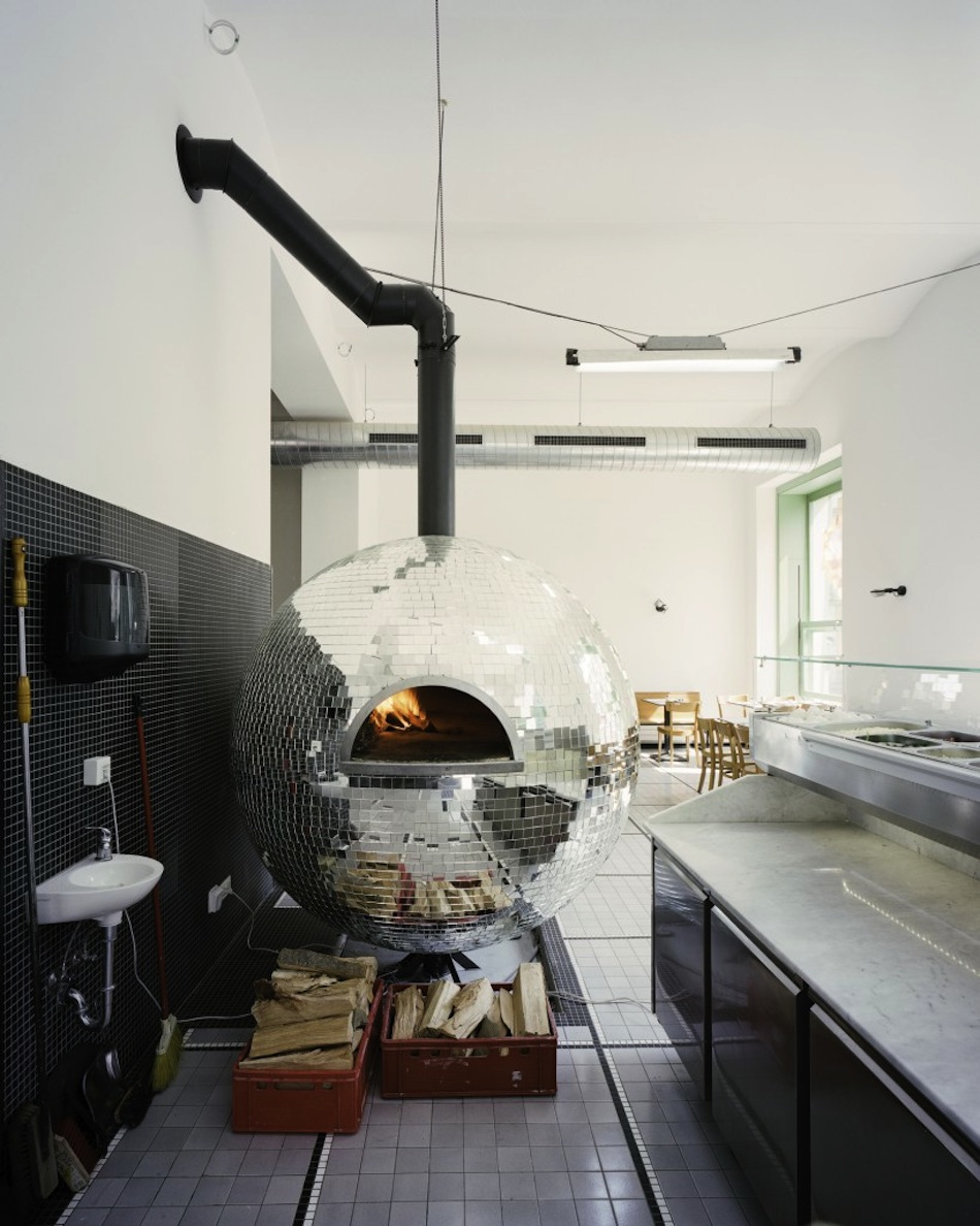 Rotating Disco Ball Pizza Oven Design