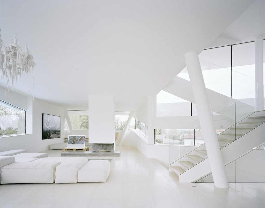 Amazing Futuristic All White House