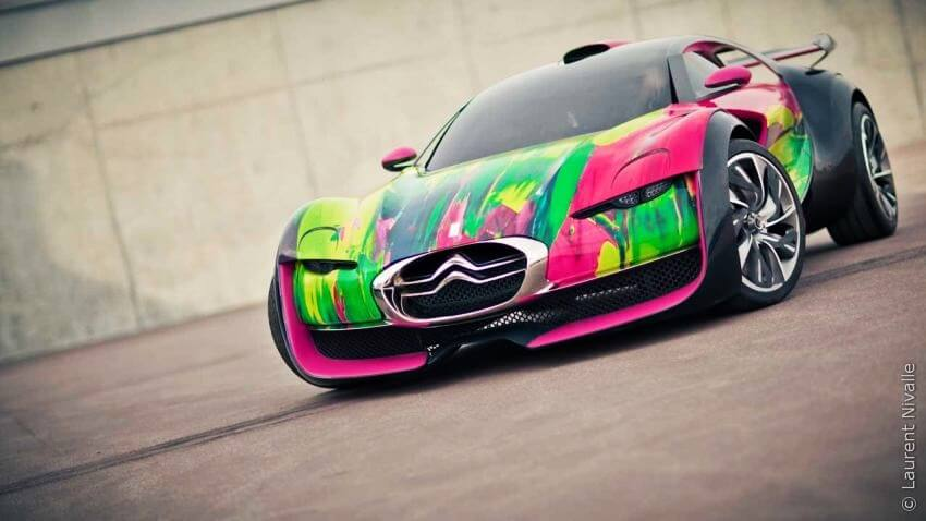 Most Colorful Portraits by Francoise Nielly - EALUXE.COM | Citroen Survolt Concept Car