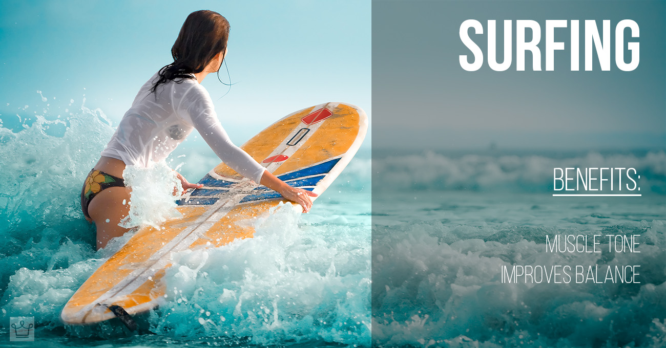 Best Workouts For Summer Women Style surfing benefits