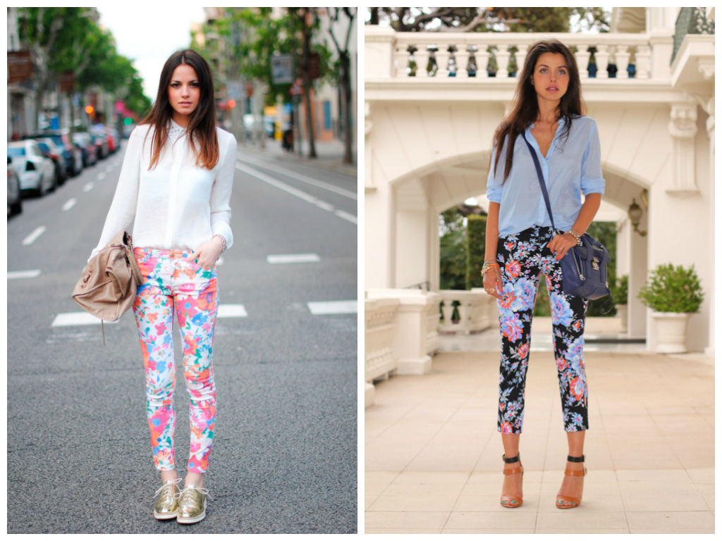 What to wear on a first date without knowing where you're going |Printed pants and top