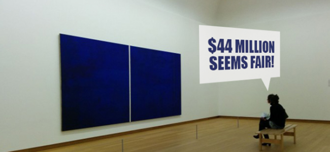 $44 Million Blue Canvas with a White Stroke. Art huh?