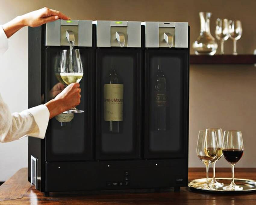 Top 10 Most Expensive Kitchen Gadgets - EALUXE.COM | The Skybar Wine Preservation & Serving System turns is a very useful gadget for wine lovers.