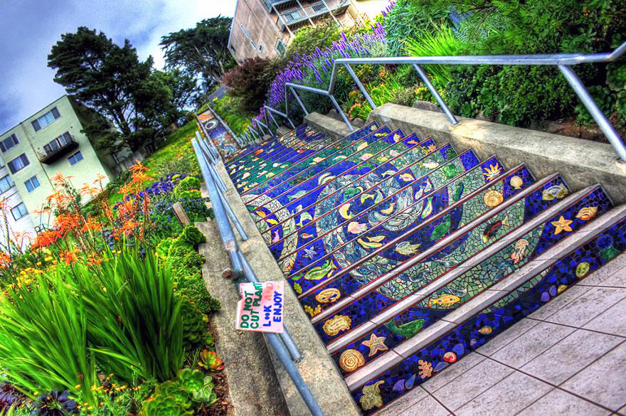Stairs Turned Into Amazing Piece of Art|16th Avenue Tiled Steps, San Francisco