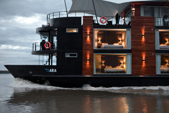 Luxury Riverboat cruising down the Amazon Top of the line riverboat offering a luxurious experience down the Amazon river!