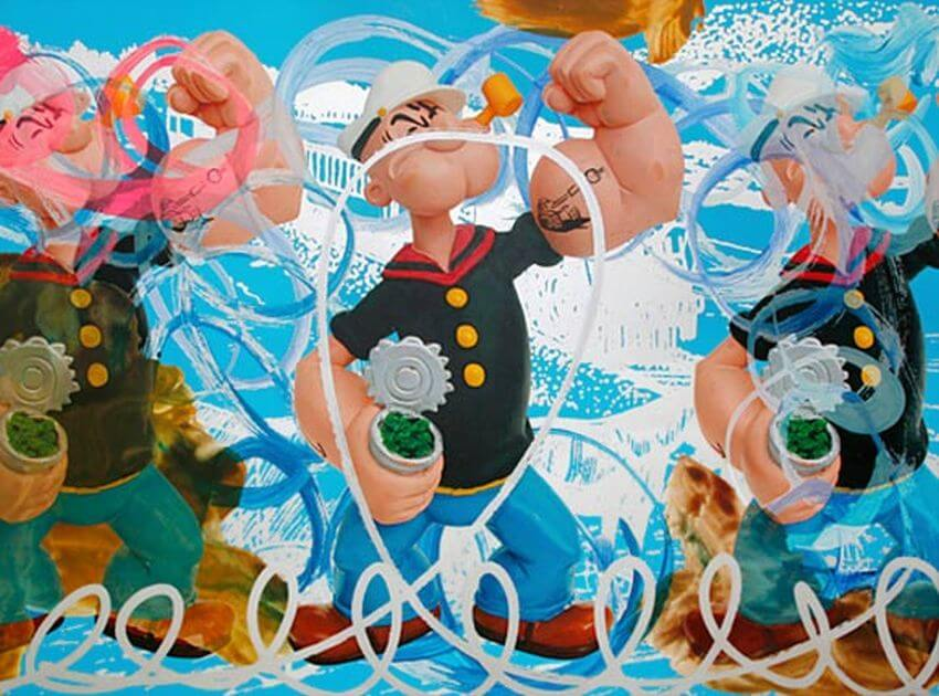Most Expensive Popeye Statue in the World - EALUXE.COM | Triple Popeye