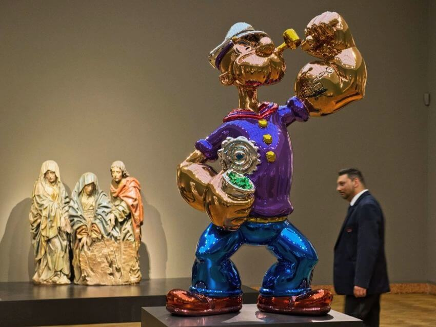 Most Expensive Popeye Statue in the World - EALUXE.COM | Jeff Koons' Popeye Statue