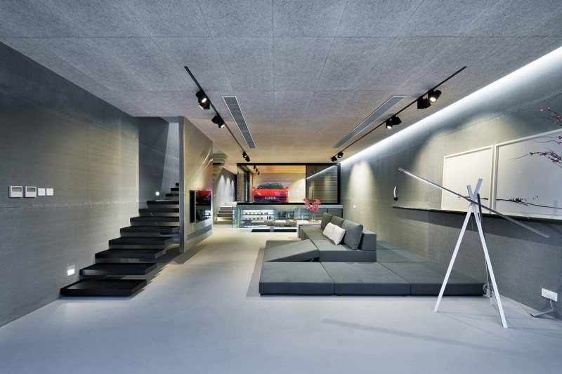 Incredible Modern Home Features a Ferrari in the Living Room!